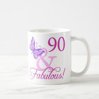 Mug 90 et cadeaux d'anniversaire fabuleux (prune)