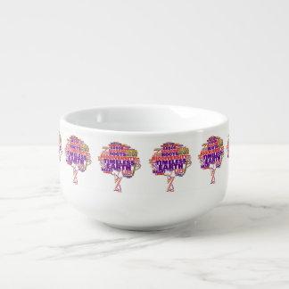 Mug À Soupe Arbre inspiré de nuage d'étiquette de la vie