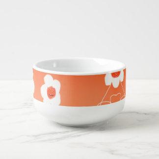 Mug À Soupe Belle petite cuvette blanche de fleur