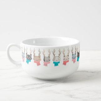 """Mug À Soupe Chats de vacances """"de Noël de Meowy"""" dans le motif"""