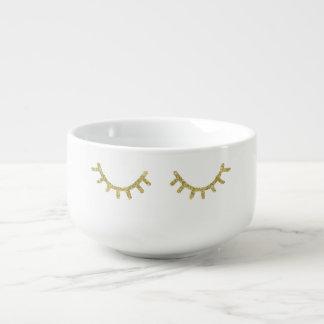 Mug À Soupe Cils étincelants d'or