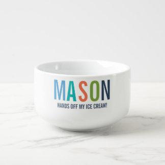 Mug À Soupe Cuvette personnalisée pour des enfants