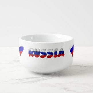 Mug À Soupe Drapeau russe de coeur