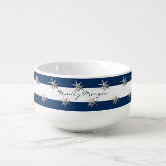 Mug À Soupe Étoiles de mer adorables, bleu marine
