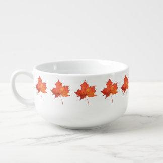 Mug À Soupe Feuille d'érable d'aquarelle