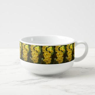 Mug À Soupe Fleurs tropicales accrochantes d'orchidées jaunes