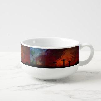 Mug À Soupe La croix d'amour d'espoir de foi croient le destin
