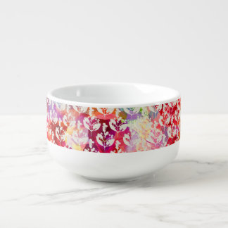 Mug À Soupe Le résumé coloré mignon laisse des motifs