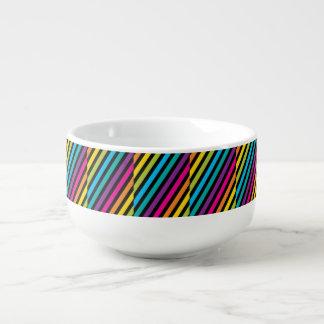 Mug À Soupe Lueur au néon fluorescente dans le design7 coloré
