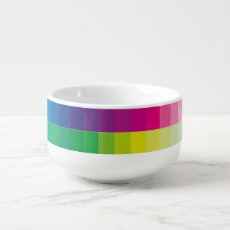 Mug À Soupe Palette de couleur d'arc-en-ciel
