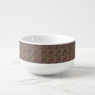 Mug À Soupe Patchwork vintage avec les éléments floraux de