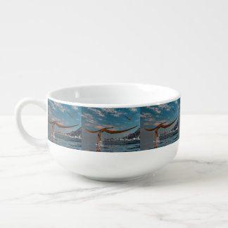 Mug À Soupe Pêche préhistorique d'oiseau d'Anhanguera
