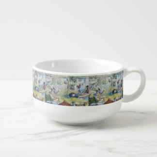 Mug À Soupe Pêche vintage de Carl Larsson Cray avec la famille