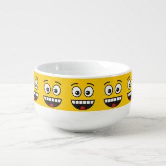 Mug À Soupe Visage de sourire avec la bouche ouverte