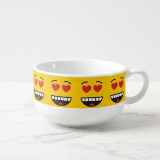 Mug À Soupe Visage de sourire avec les yeux en forme de coeur