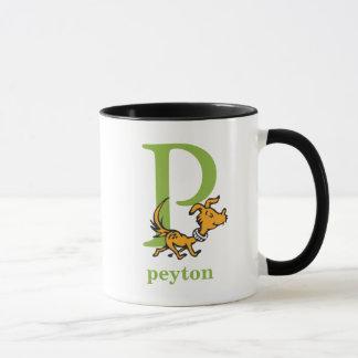 Mug ABC de Dr. Seuss's : Lettre P - Le vert | ajoutent