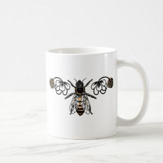 Mug abeille avec le trèfle