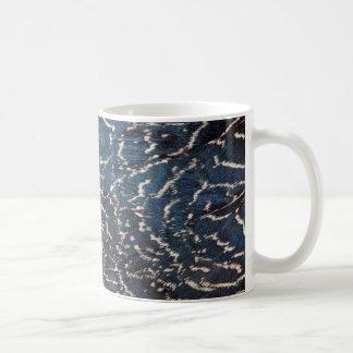 Mug Abrégé sur noir plume de faisan
