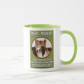 Mug Acte britannique vintage de chat et de souris de