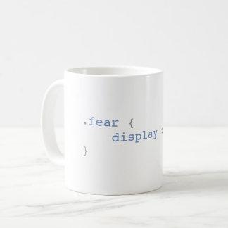 Mug Affichage de crainte aucun CSS drôle