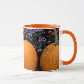 Mug Affichage décoratif de citrouille de chute colorée