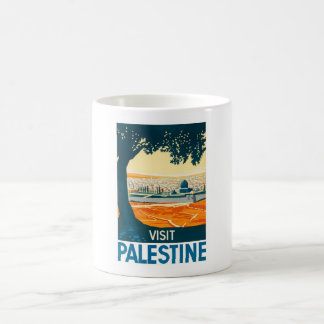 Mug Affiche de la Palestine de visite