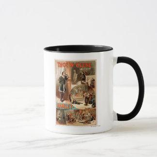 "Mug Affiche de théâtre de William Shakespeare ""Hamlet"""