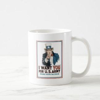Mug Affiche d'Oncle Sam, Amérique. Je vous veux pour…