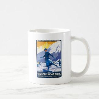 Mug Affiche vintage de Chamonix - de Mont Blanc
