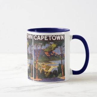 Mug Affiche vintage de voyage, Cape Town, Afrique du