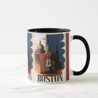 Mug Affiche vintage de voyage de Boston, le
