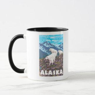 Mug Affiche vintage de voyage de chèvres