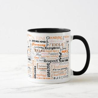 Mug Affirmations sacrées oranges de positif de Chakra