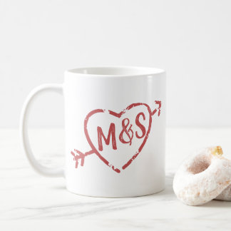 Mug Aimez toujours et pour toujours le monogramme de
