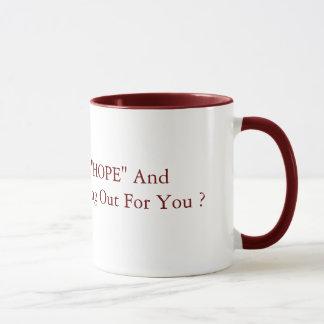 """Mug Ainsi comment est que le rouge de 15oz de """"ESPOIR"""""""