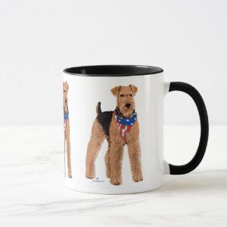 Mug Airedale patriotique Terrier