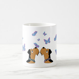 Mug Airedales et papillons