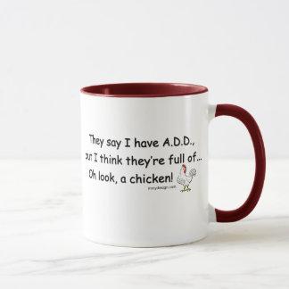 Mug AJOUTEZ complètement des poulets