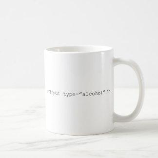 Mug Alcool d'entrée de HTML