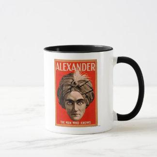 Mug Alexandre l'homme qui connaît l'affiche magique
