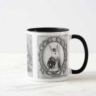 Mug Alice chez le lapin de blanc de lièvres de mars de