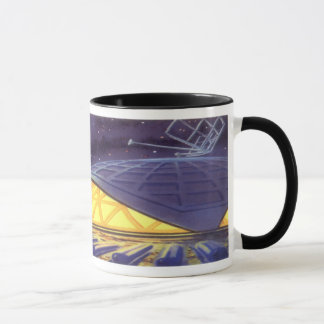 Mug Aliens vintages de la science-fiction sur la lune