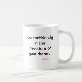 Mug Allez avec confiance dans les directions de vos