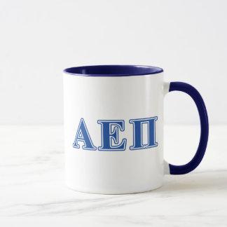 Mug Alpha lettres de bleu de l'epsilon pi