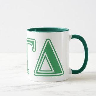 Mug Alpha lettres gamma de vert de delta