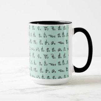 Mug Alphabet de langue des signes américaine de //de