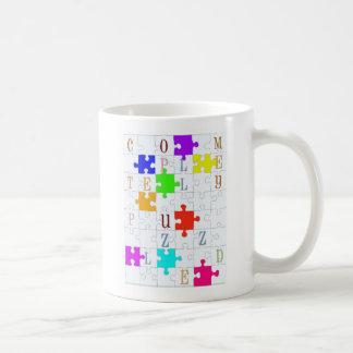 """Mug Amant """"complètement perplexe"""" de puzzle"""