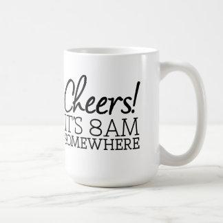 Mug Amant drôle de café - acclamations ! C'est 8h du