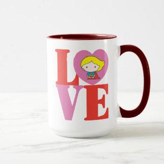 Mug AMOUR de Chibi Supergirl