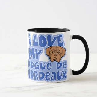 Mug Amour de Kawaii I mon Dogue de Bordeaux